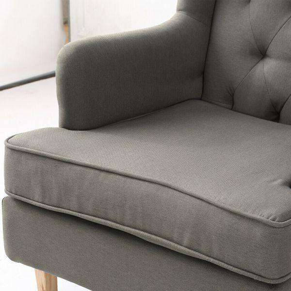Levede Rocking Fabric Armchair - Grey