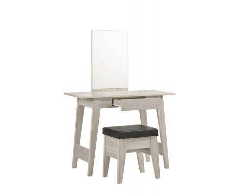Melbournians Furniture Dressing Table With Stool In White Oak