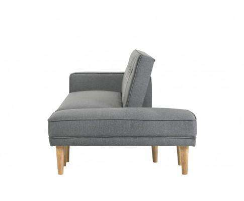 Melbournians Furniture Fabric Sofa Bed with Ottoman - Light Grey