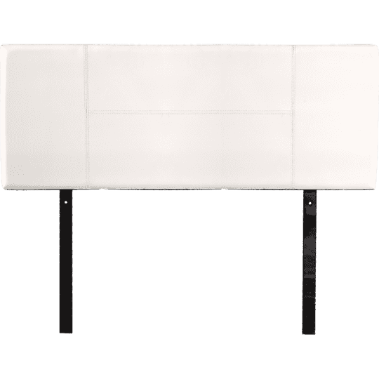 Modern PU Leather Bedhead - 3 Colours-Bedhead-Palermo-Single-White-Big Bedding Australia
