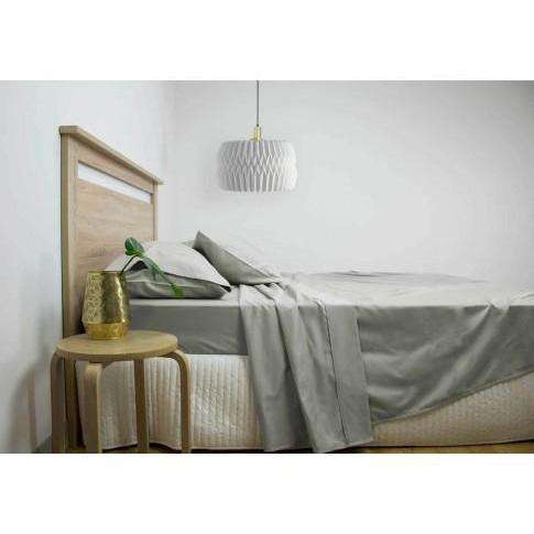 2500TC Cotton Rich Sheet Set - White, Grey & Navy
