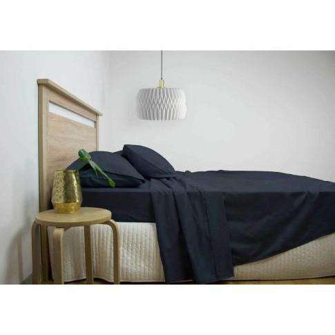 Ardor 2500TC Cotton Rich Sheet Set - White, Grey & Navy-Bed Sheets-Ardor Bedding-Navy-Queen-Big Bedding Australia