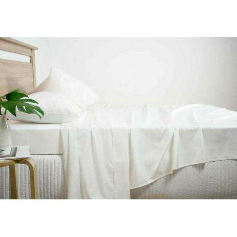 Ardor 2500TC Cotton Rich Sheet Set - White, Grey & Navy-Bed Sheets-Ardor Bedding-White-Queen-Big Bedding Australia