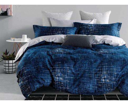 Luxton Navy Matrix Quilt Cover Set