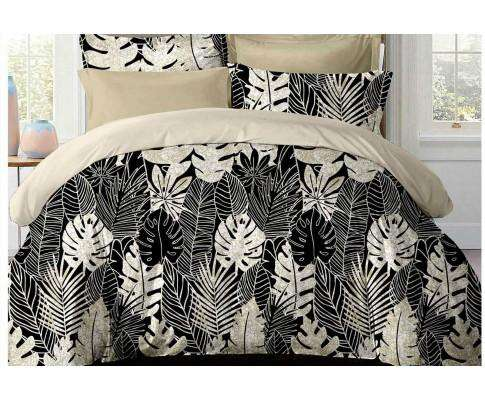 Luxton Dex Black and White Fruit Salad Plant Quilt Cover Set