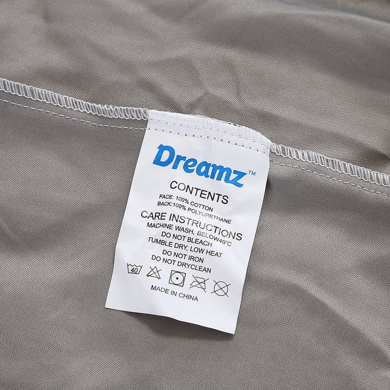 DreamZ Mattress Protector Fitted Sheet Cover Waterproof Cotton Fibre Double