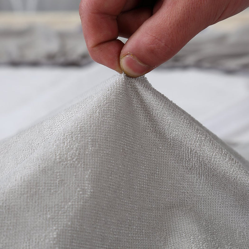 Mattress Protector Fitted Sheet Cover Waterproof Cotton Fibre King Single