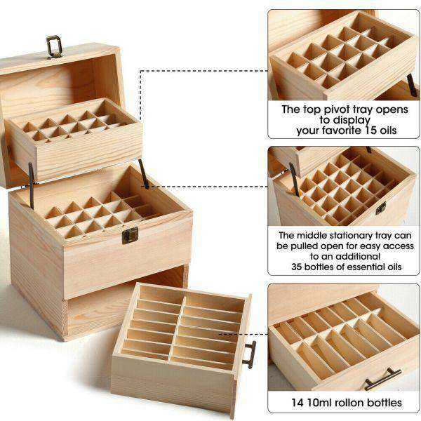 Essential Aromatherapy Oil Storage Box 59 SLOTS