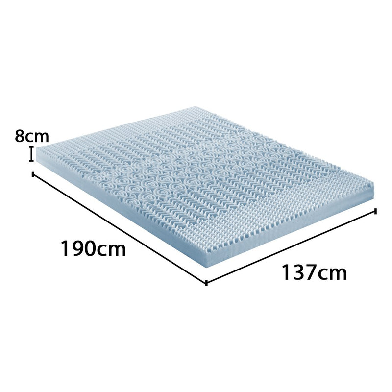 8cm Bedding Cool Gel Memory Foam Bed Mattress Topper Bamboo Cover Double