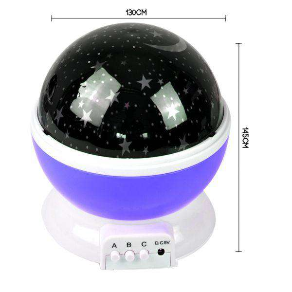 STAR MOON SKY STARRY NIGHT PROJECTOR LIGHT LAMP FOR KIDS BABY BEDROOM PURPLE