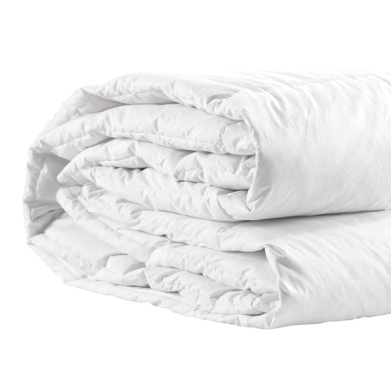 500GSM All Season Goose Down Feather Filling Duvet in Super King Size