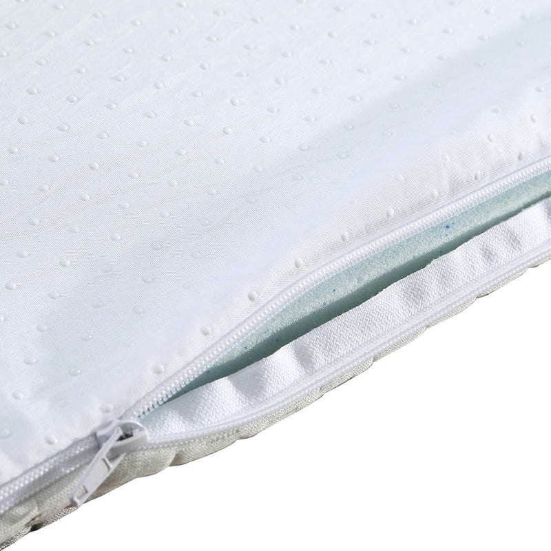 8cm Bedding Cool Gel Memory Foam Bed Mattress Topper Bamboo Cover King