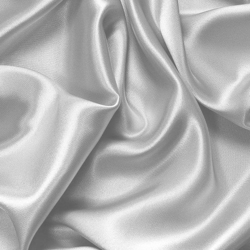Silk Satin Quilt Duvet Cover Set in King Size in Silver Colour