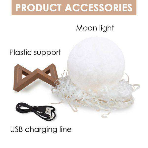 3D MAGICAL MOON LAMP USB LED NIGHT LIGHT MOONLIGHT TOUCH SENSOR 20CM DIAMETER