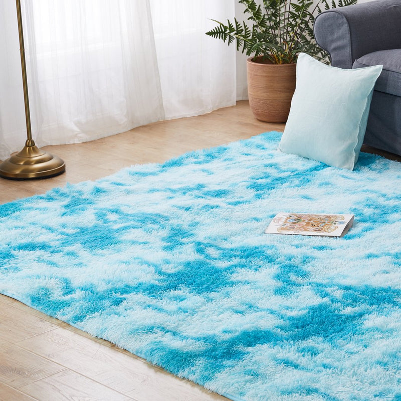 Floor Rug Shaggy Rugs Soft Large Carpet Area Tie-dyed Maldives 80x120cm