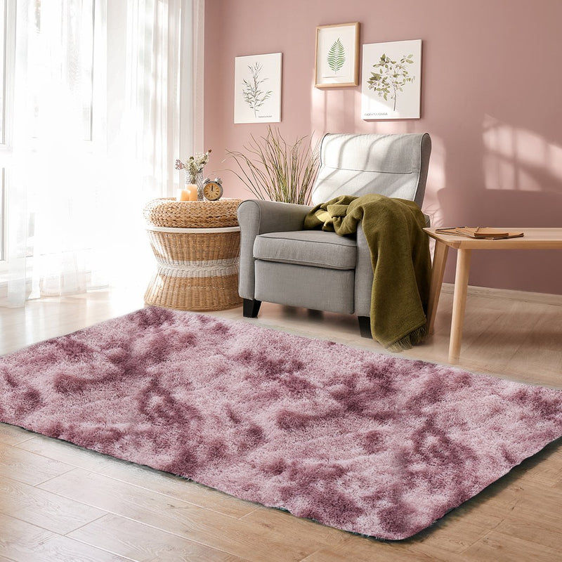 Floor Rug Shaggy Rugs Soft Large Carpet Area Tie-dyed Noon TO Dust 120x160cm