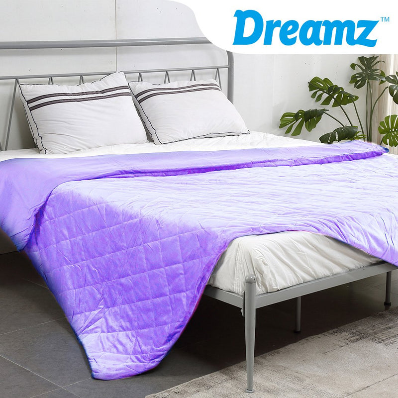 121x91cm Anti Anxiety Weighted Blanket Blankets Bamboo Cover Only Purple