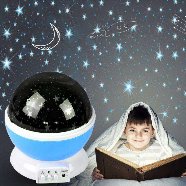LED NIGHT STAR SKY PROJECTOR LIGHT LAMP ROTATING STARRY BABY ROOM KIDS GIFT