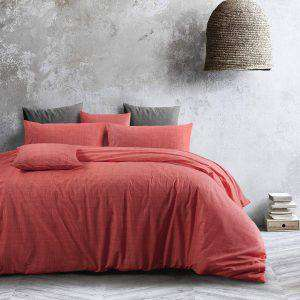 Amsons Living Coral Quilt Cover Set