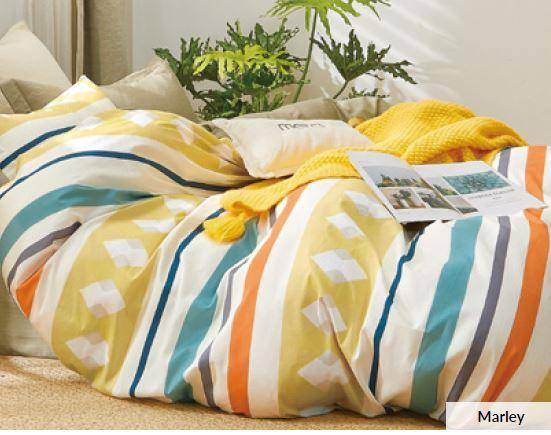 Odyysey Living Marley Cotton Quilt Cover Set