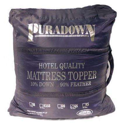Goose Down Mattress Toppers in Australia. Order Puradown Plush Mattress Toppers Bedding Extras Puradown Single