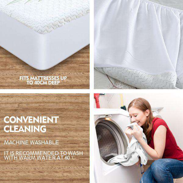 FULLY FITTED WATERPROOF BREATHABLE BAMBOO MATTRESS PROTECTOR