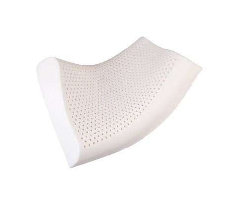 Set of Two Curved Natural Latex Pillow