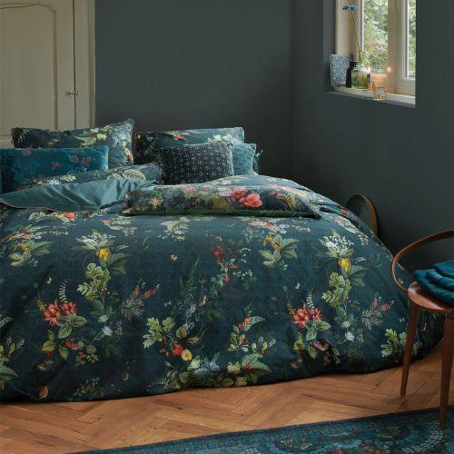 Pip Studio Fall In Leaf Dark Blue Quilt Cover Set