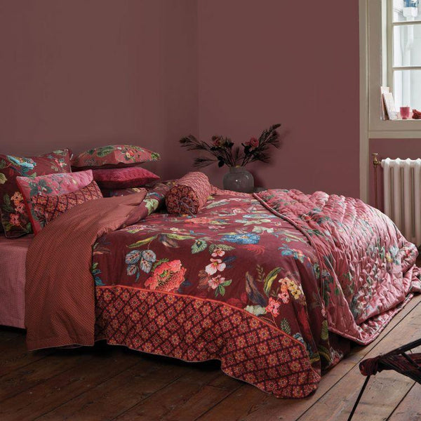 Pip Studio Poppy Stitch Red Quilt Cover Set