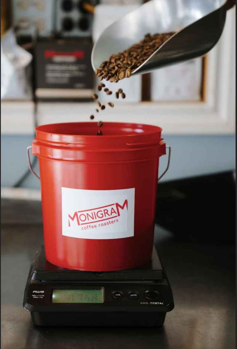 Monigram Coffee Club - Zero waste packaging bucket - Not Monogram