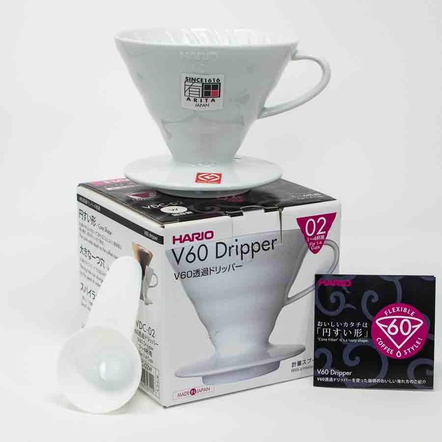 Hario V60-02 White Ceramic Dripper