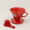 Hario V60-02 Red Porcelain Dripper