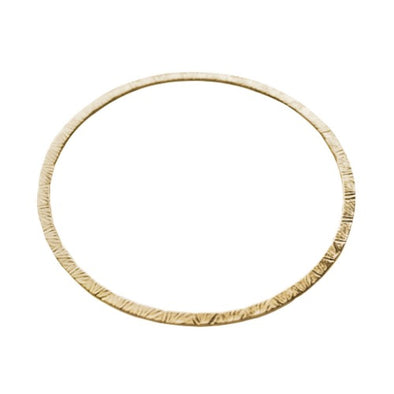 Naveen Flat V Stamped Bangle