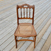 Wood Chair with Cane Seat