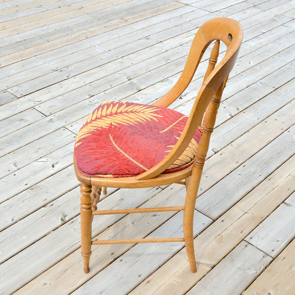 Red Palm Leaf Chair