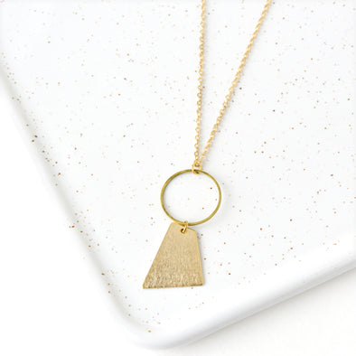 Circle Drop Necklace Geometric