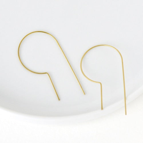 Billie Brass Earrings