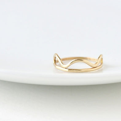 Cloud Ring in Bronze