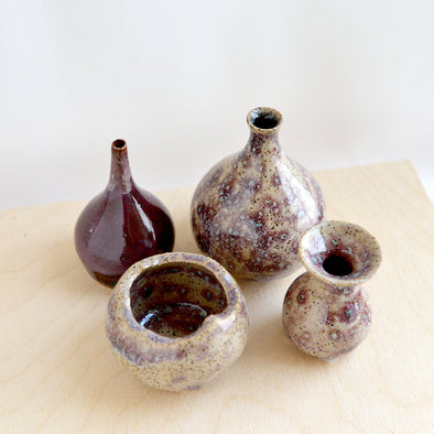 Bud Vases in Burgundy