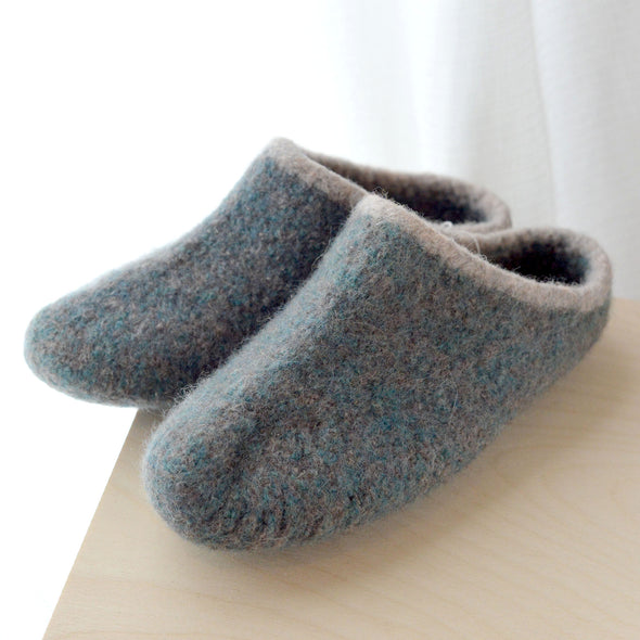 Hand Knit Felted Slippers Womens 9/10