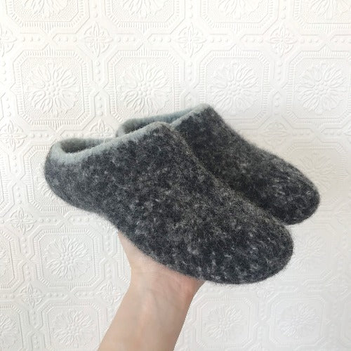 Hand Knit Felted Slippers Womens 7/8