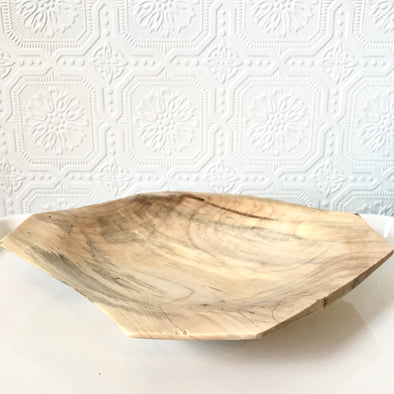 Shallow Spalted Maple Wood Bowl