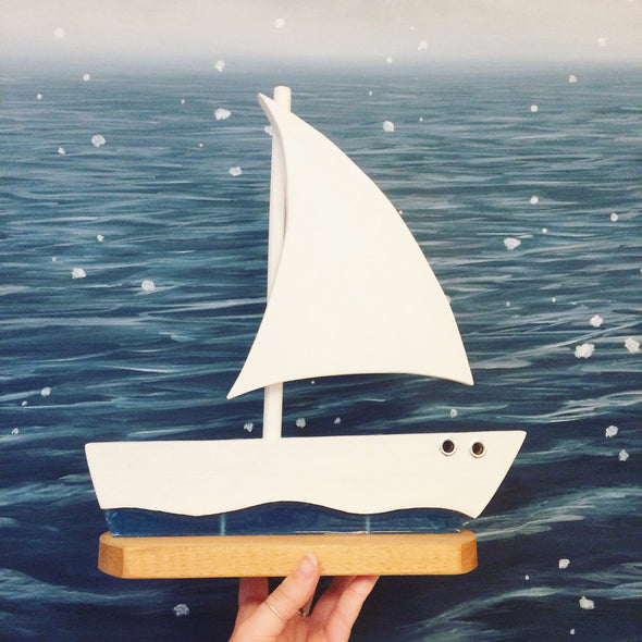 Wood and Resin Sailboat by Jim Kyle