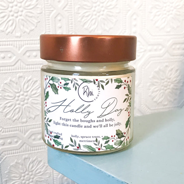Holly Day Candle