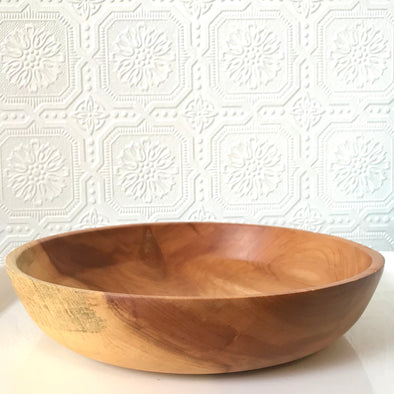 Shallow Cherry Wood Bowl