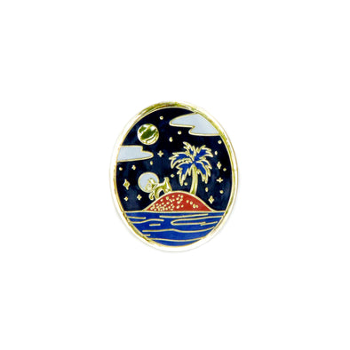 Isle Of Space Dogs Pin