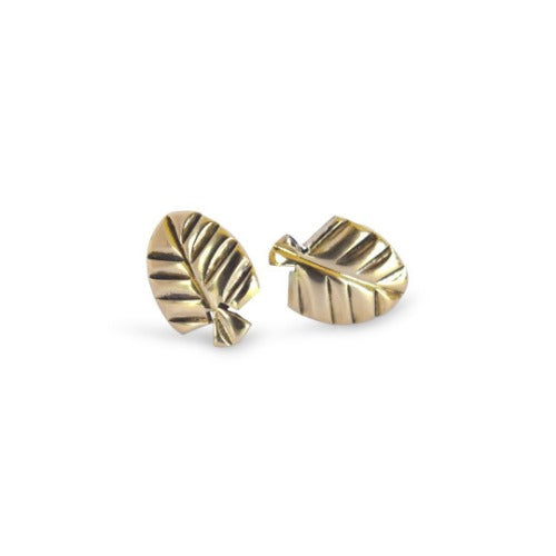 Fan Leaf Stud Earrings