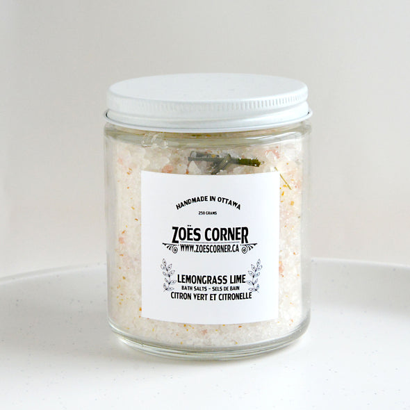 Lemongrass Lime Bath Salts
