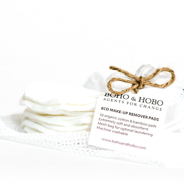 Cotton and Bamboo Makup Remover Pads