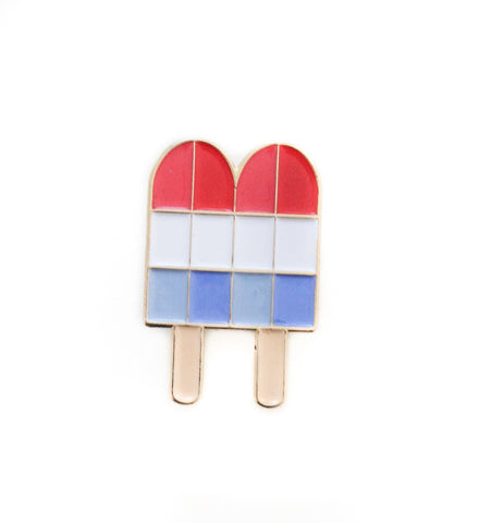 Retro Rocket Popsicle Enamel Pin